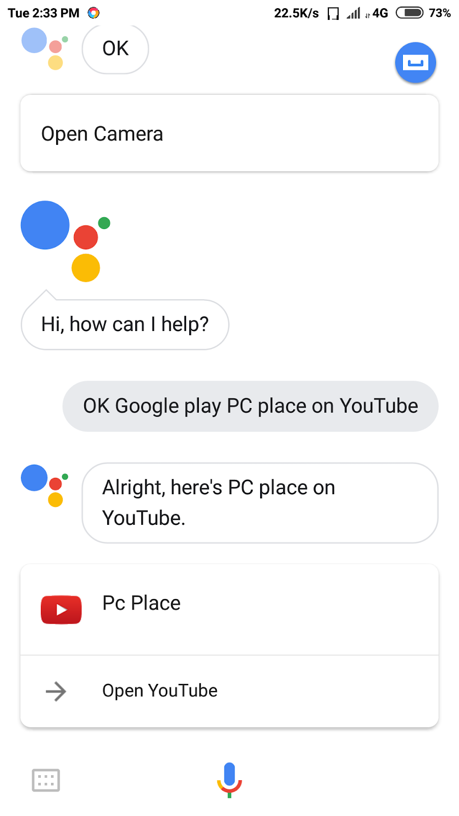 You can also play YouTube videos using Google Assistance