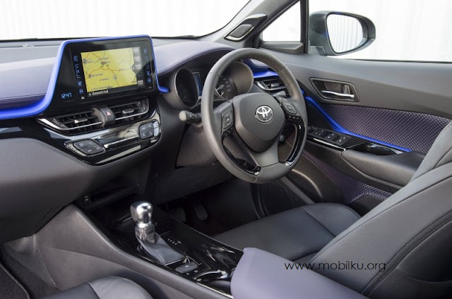 interior, toyota chr, 2018, 1200 cc, 1.2, fitur, dashboard, stir, audio