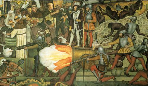 for Diego rivera la conquista mural