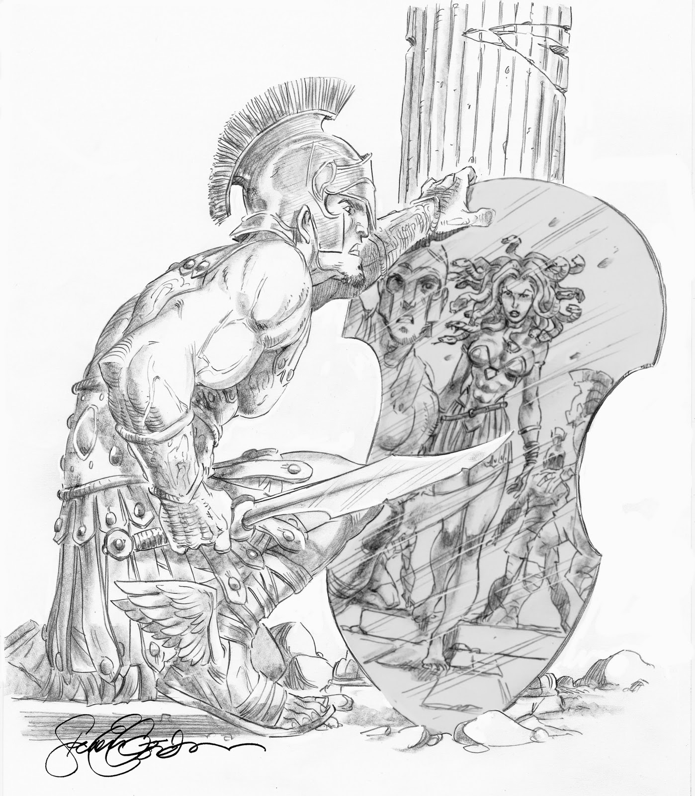 The Foc Ers Sketch Blog Perseus And Medusa By Steven E Gordon