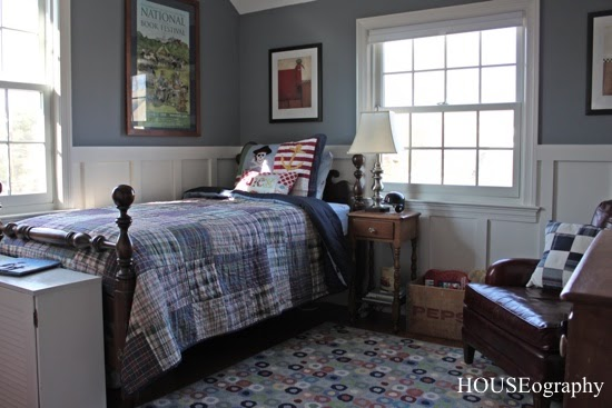 HOUSEography: DIY Curtains In A Boy's Room {Alex's Room}