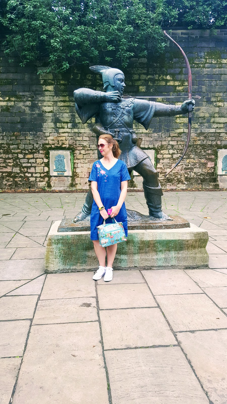 What I Wore : Nottingham Castle : Denim Dress Review