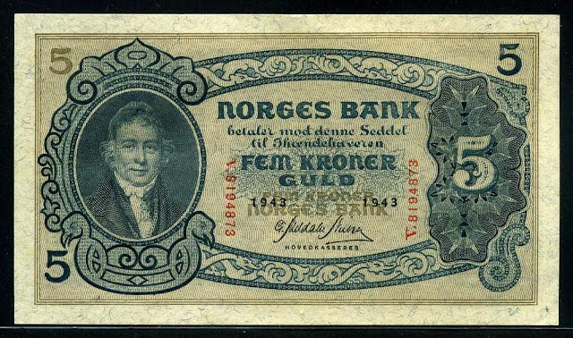 Norway banknote 5 Kroner