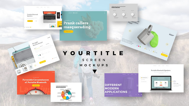 Modern Presentation Screen Mockup with Free PowerPoint Templates Slide 6