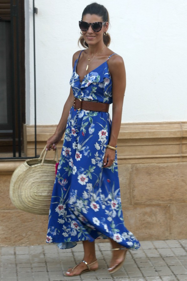 Long dress, vestido estampado, vestido de flores