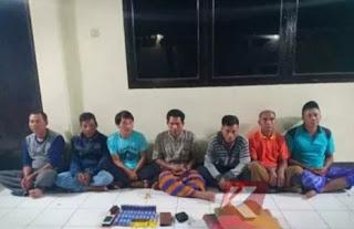 7 Penjudi kampung diringkus polres Lombok Timur