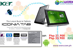 Acer Iconia A500 Tablet is now available at PCWORX Philippines!