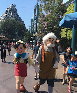 Pinocchio and Geppeto at the Matterhorn Disneyland
