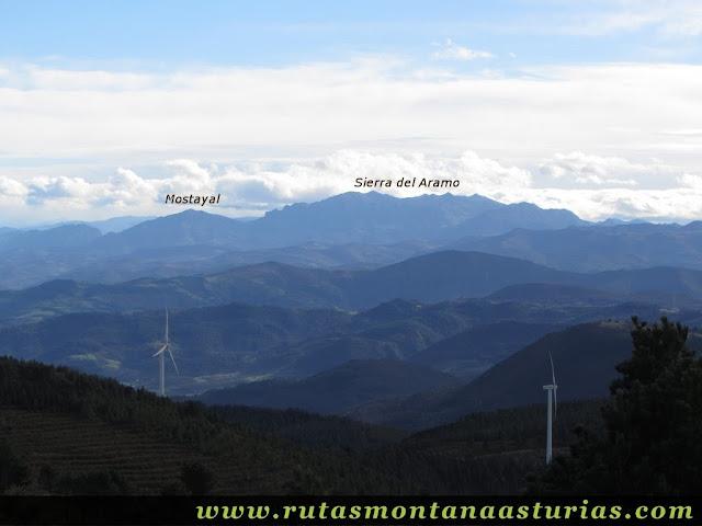 Mostayal y Sierra Aramo desde Aguión