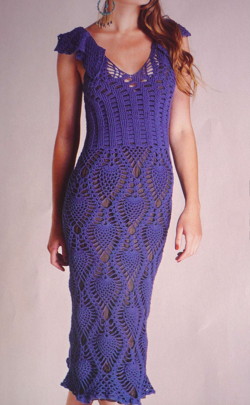 Como hacer vestidos de mujer a crochet