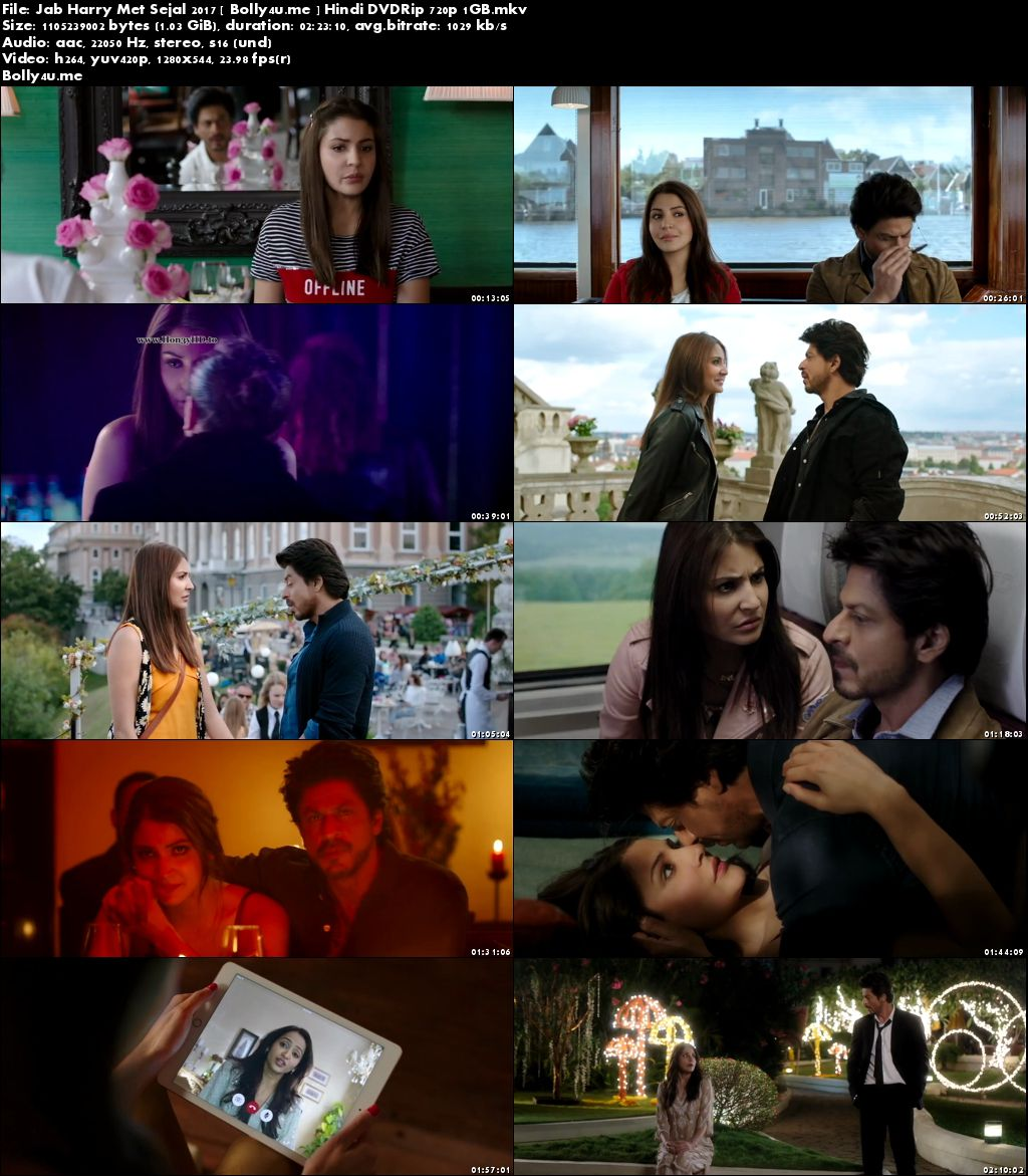Jab Harry Met Sejal 2017 DVDRip 1Gb Full Hindi Movie Download 720p