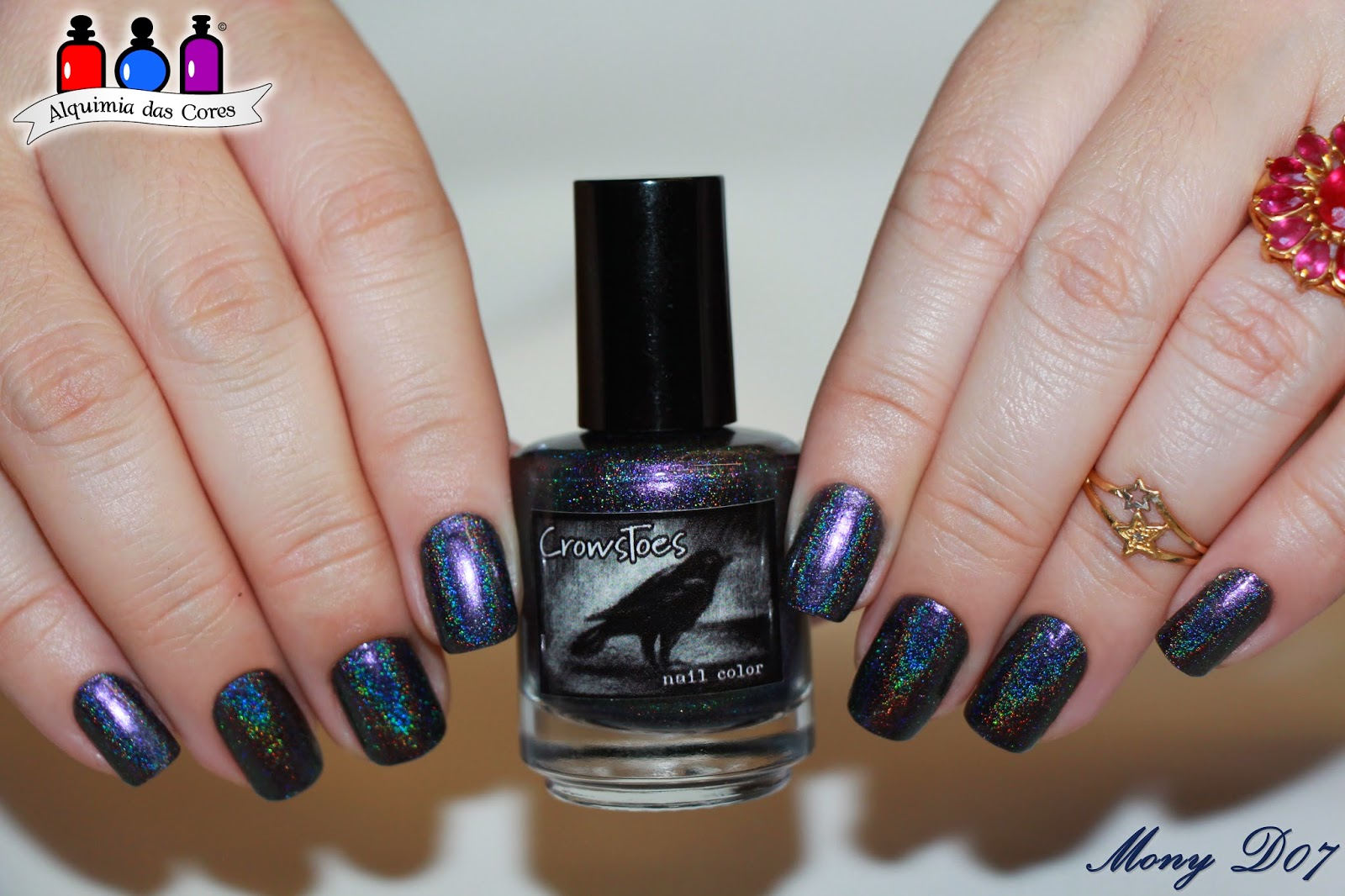 Crowstoes, One Trick Pony, multichrome, esmalte, holográphic, holográfico, SimoneD07, MonyD07, Roxo, Azul, Grafite, Indie