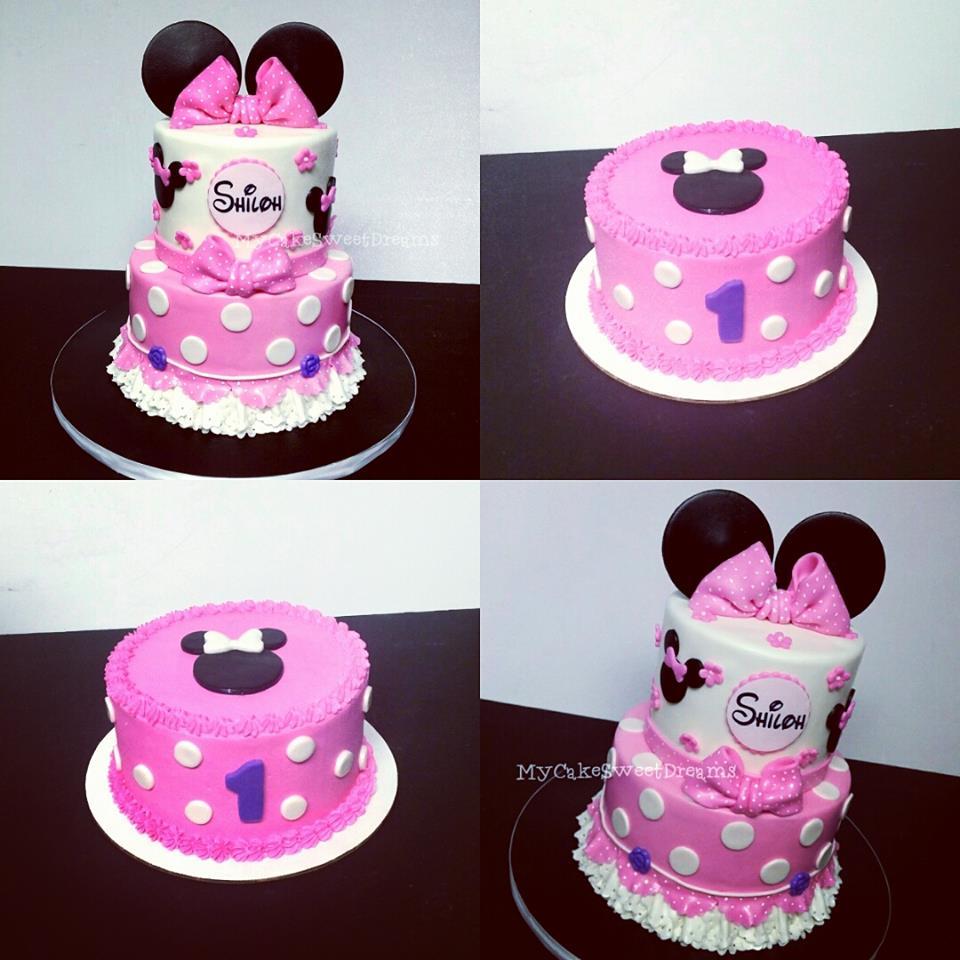 Minnie Mouse 1st Birthday: MyCakeSweetDreams: Minnie Mouse 1st Birthday Cake