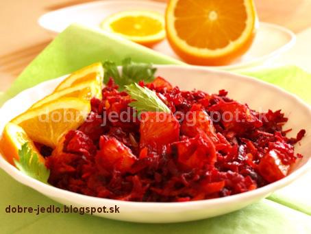 Cviklový šalát s pomarančom - recepty