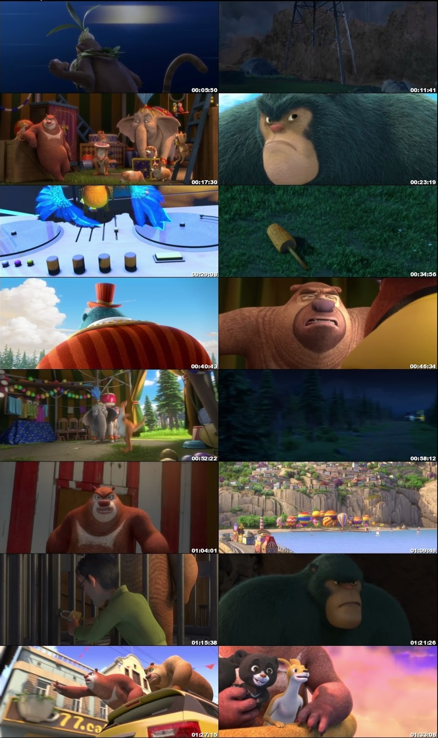 Boonie Bears The Big Top Secret 2016 Full Movie Download