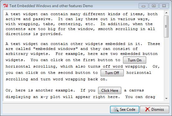 Py In My Eye: Tkinter Text Embedded Windows Demo