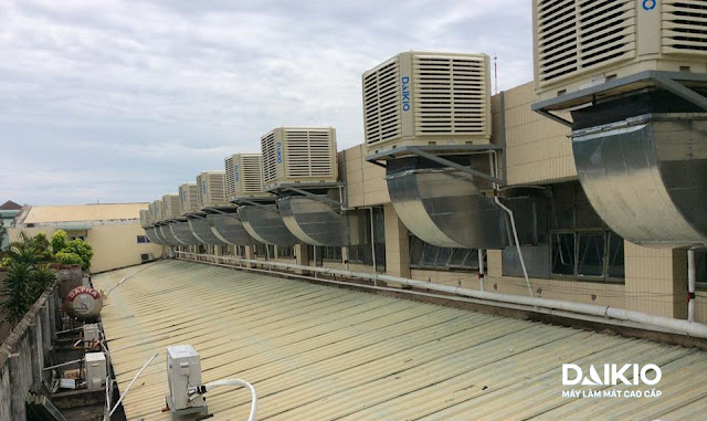 Hệ thống  làm mát nhà xưởng bằng nước Daikio hiệu suất cao