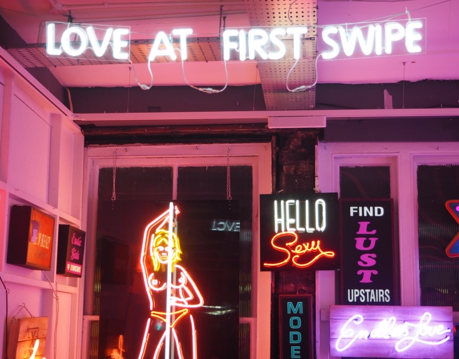 neon signs soho love at first swipe