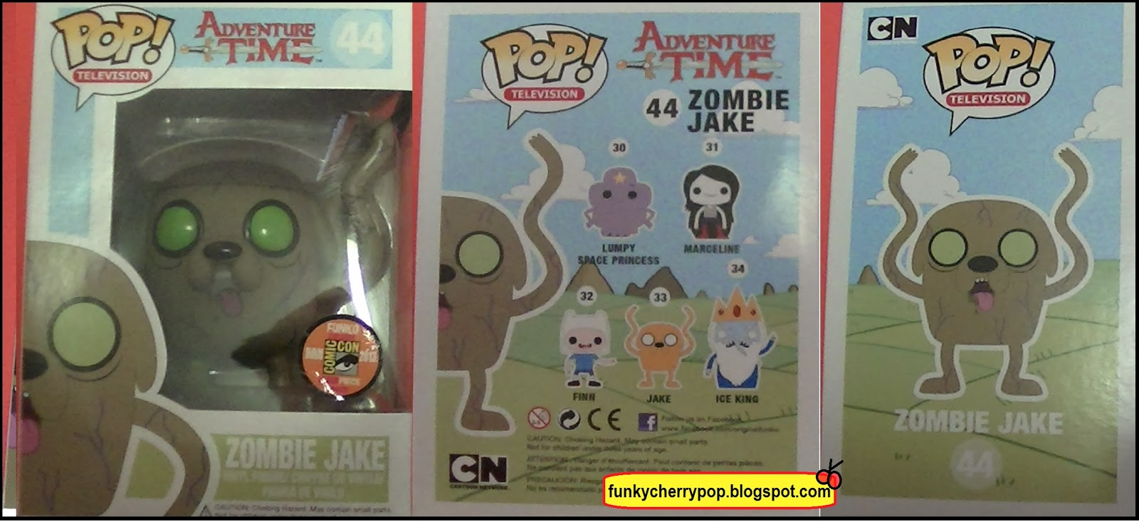 Funky Pop Funko Figures 44 Zombie Jake Adventure Time
