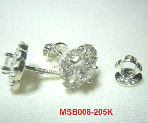 Bông tai đính đá trắng cao cấp MS-B008- Giá: 205,000 VNĐ - Liên hệ mua hàng: 0906 846366(Mr.Giang)