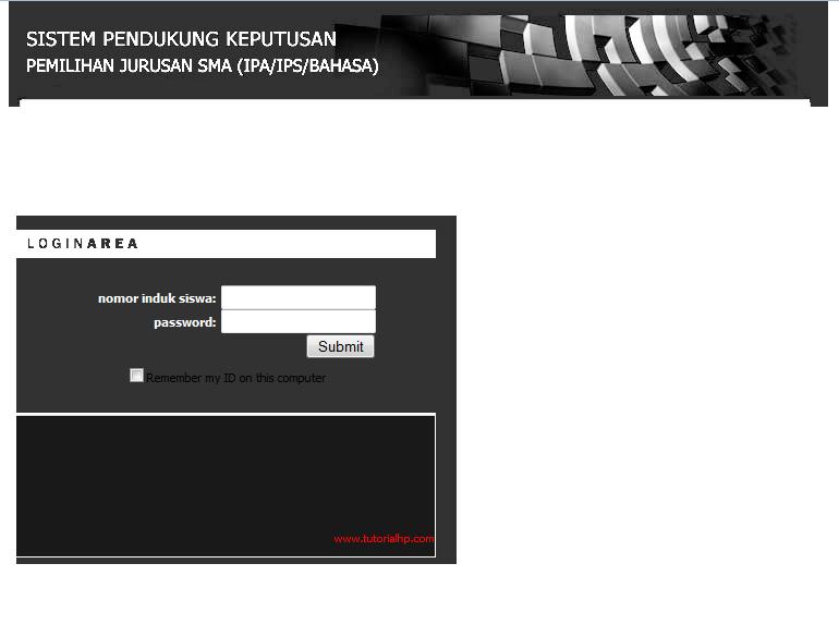 Sistem Pendukung Keputusan (SPK) Pemilhan Jurusan Berbasis Web