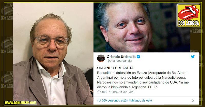 Orlando Urdaneta detenido en Argentina por la INTERPOL