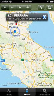 L'app Terremoto per iPhone e iPad.
