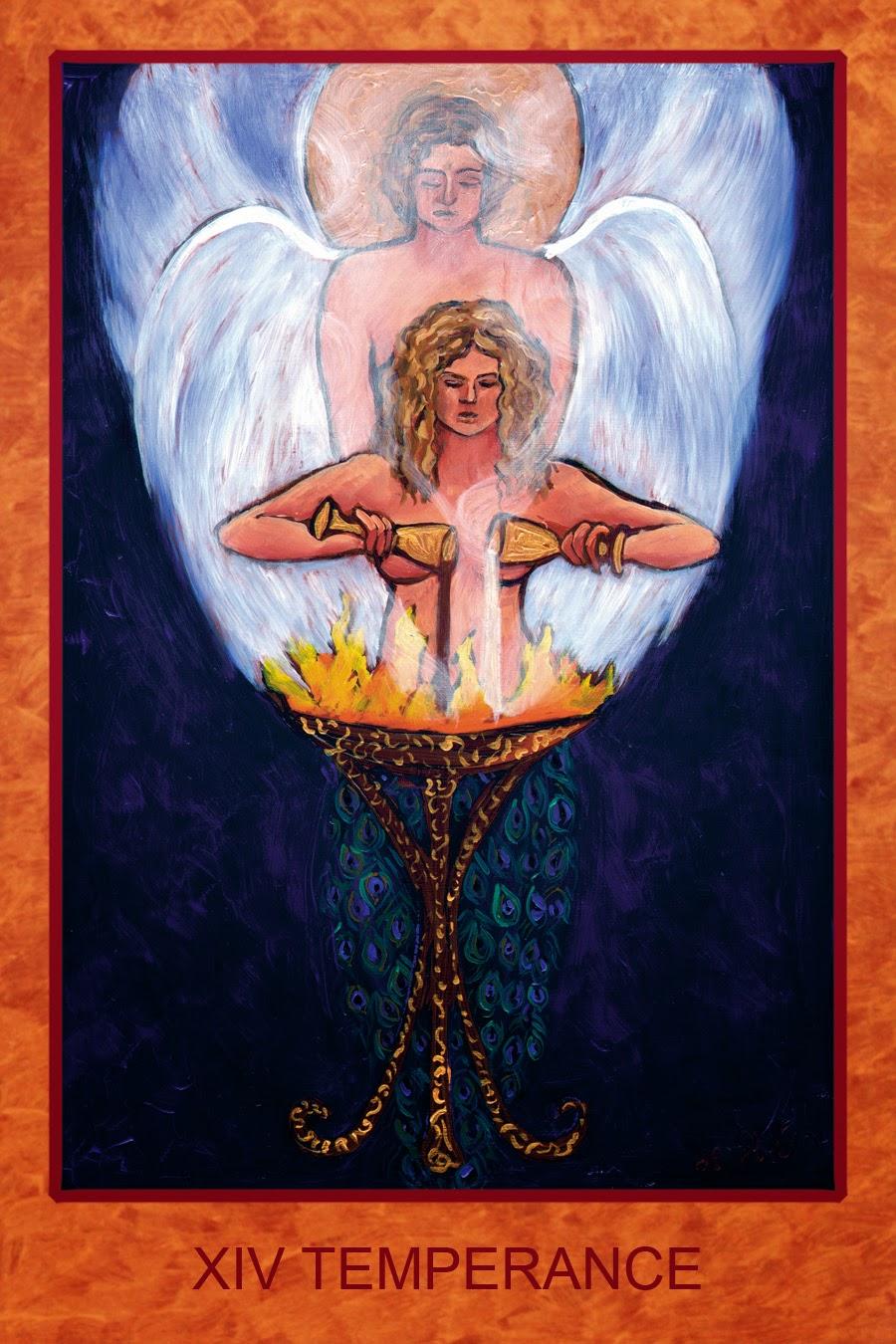 Xiv Temperance Balance Archangel Zadkiel: Tarot De St. Croix