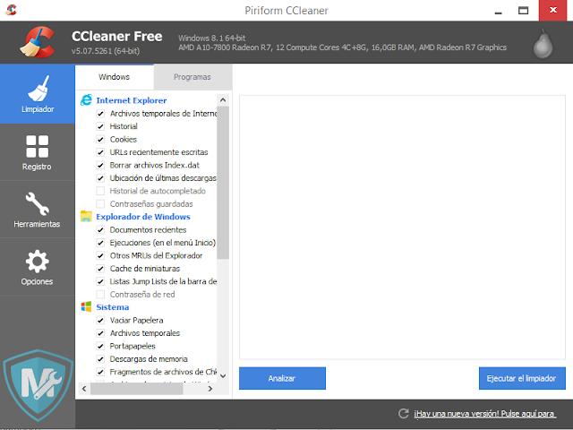 Descargar CCleaner pro el mejor optimizador pc gratis