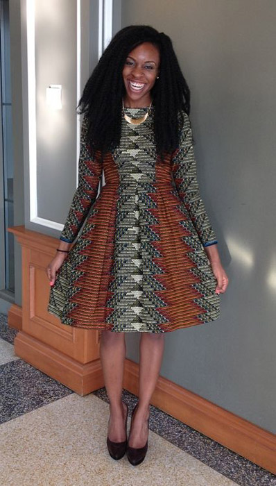 plain and pattern ankara gown (8)