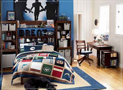 Football Bedroom Decorating Ideas Bedroom