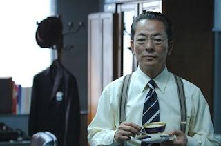 Yutaka Mizutani Leaving the scene