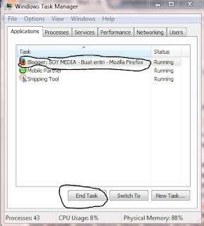 mengatasi aplikasi yang error dan tidak bisa ditutup