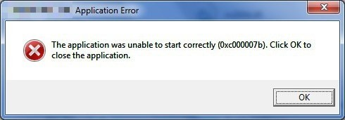 """The application was unable to start correctly (0xc0000142). Click OK to close the application"""