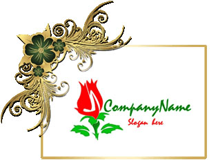 تحميل تصميم شعار ورده حمراء مفتوح جاهز للفوتوشوب, psd Red Rose logo download