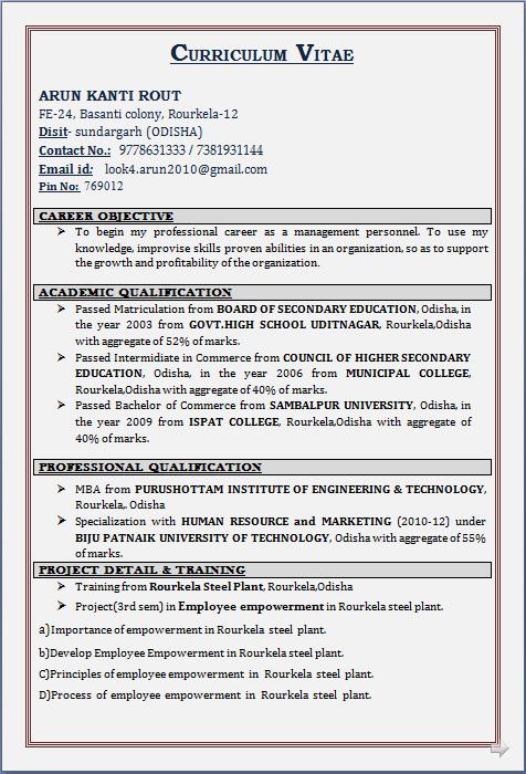 hr resume format doc resume blog co resume sample for mba amp