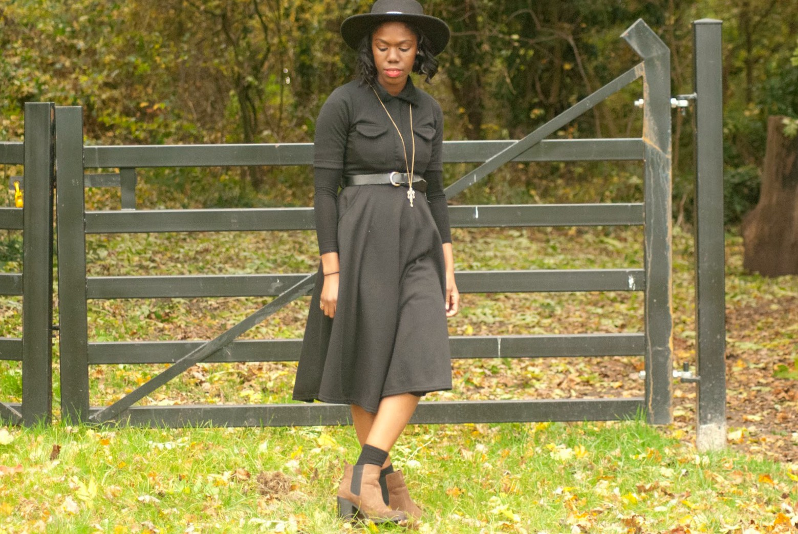 Boohoo black midi dress, fryent country park, fashion blogger, 100 Ways to 30, Style & Fashion