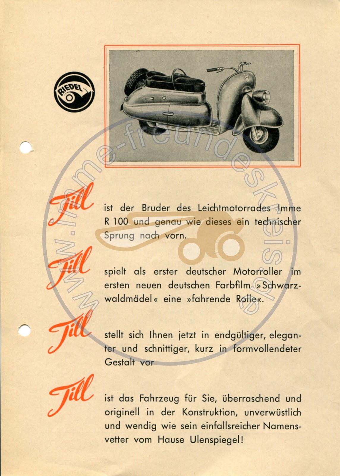 Riedel Till 100 Scooter Brochure