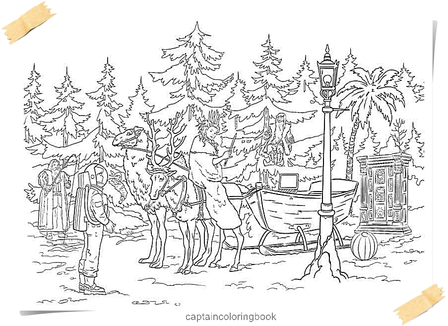 narnia coloring pages