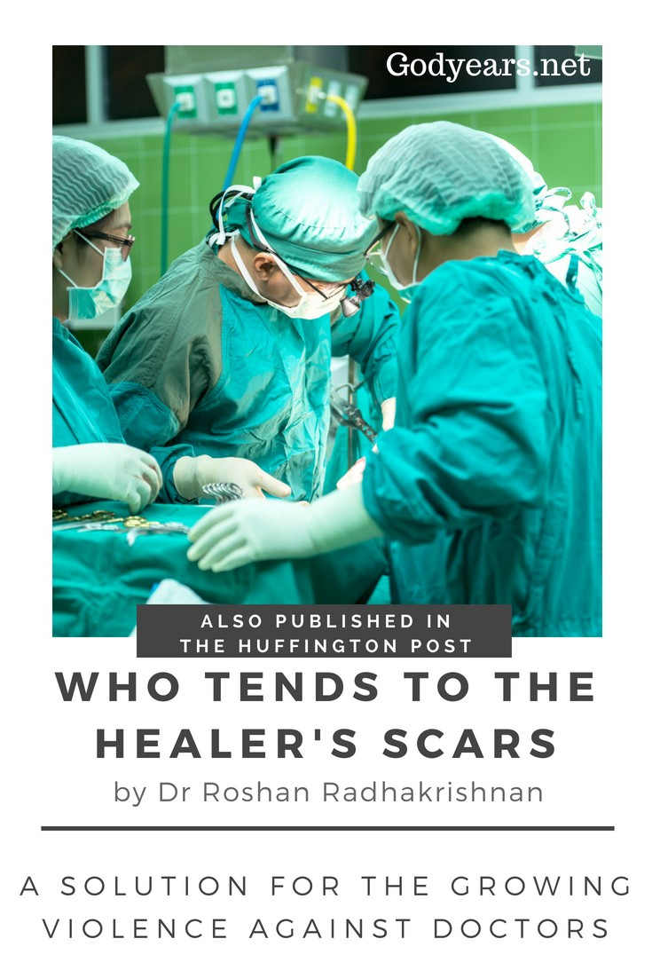Who tends to the healer's scars