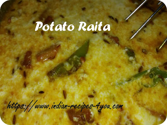 potato raita recipe in hindi