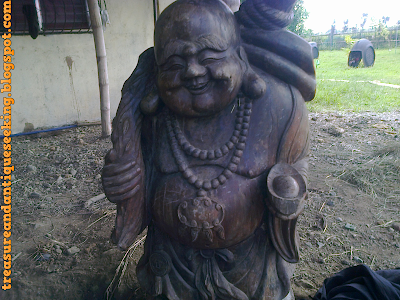Wooden Buddha Front View