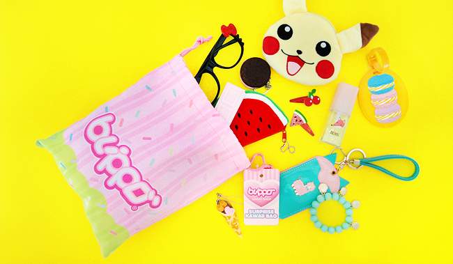 Blippo surprise bag, giveaway, kawaii