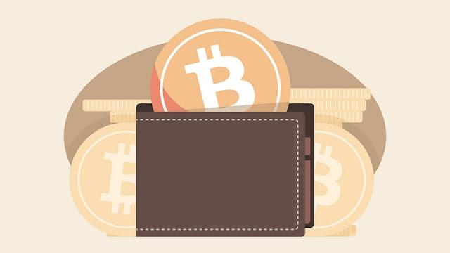 ilustrasi kartun wallet bitcoin