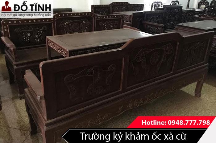 Mẫu trường kỷ khảm ốc xà cừ đẹp 2017 Nam Định