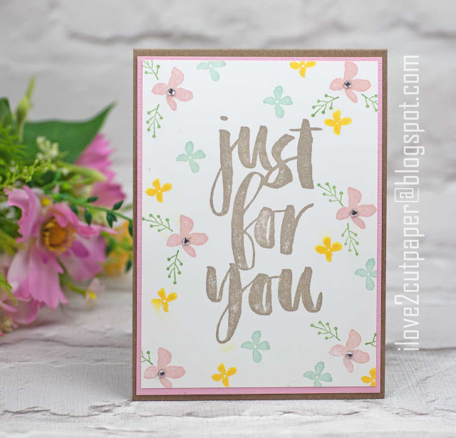 Stampin Up, Blossoms for you stamp set, ilove2cutpaper, just for you card