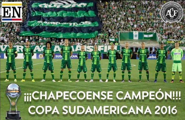 chapecoense campeon copa sudamericana 2016