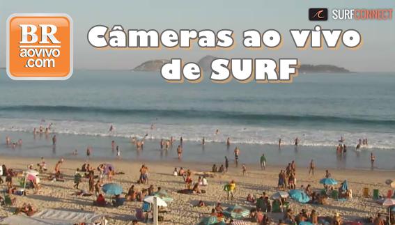 câmeras ao vivo de surf
