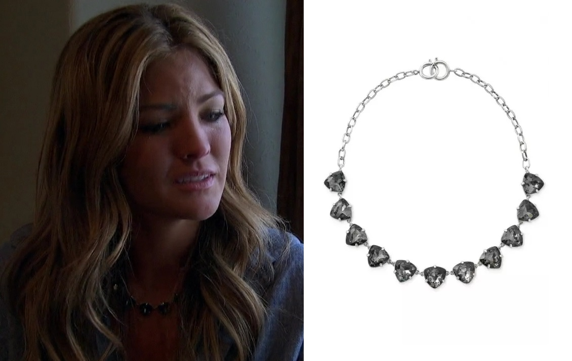 Becca in the Stella & Dot Somervell Necklace (Grey/Silver) on The Bachelor