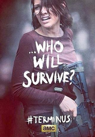 "The Walking Dead Season 4 Finale ""Terminus"" One Sheet Television Posters - ...Who Will Survive? - Lauren Cohan as Maggie Greene"